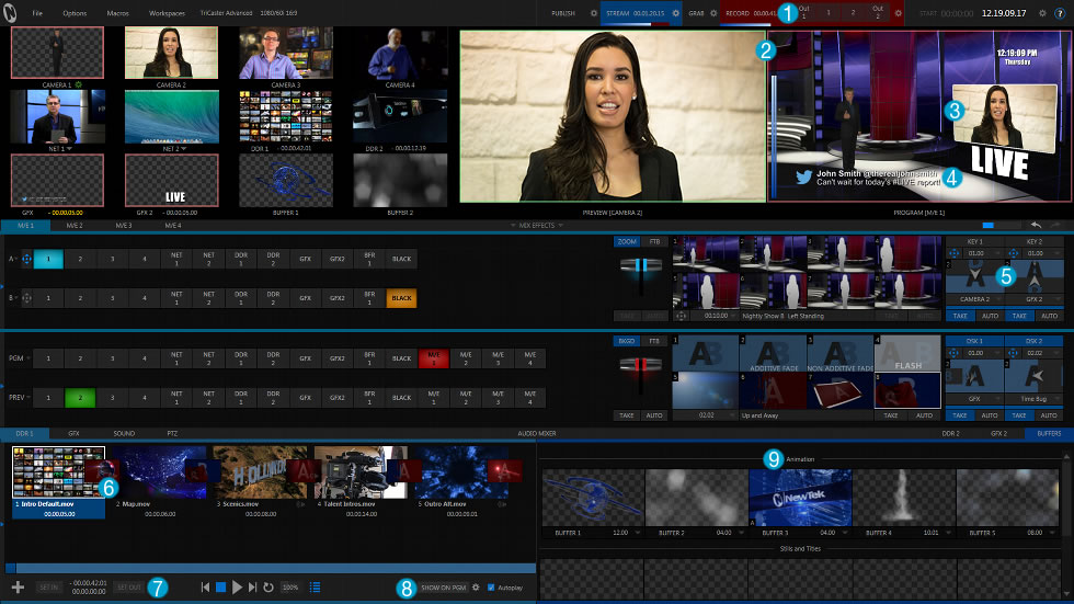 Tricaster Advanced Edition - Interface